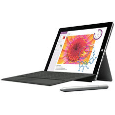 Surface 3 64 GB Bundle with Surface Pen (Silver), Surface 3 Type Cover (Black) & Office 365 Personal