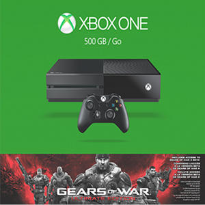 Xbox One 500GB Console with Gears of War: Ultimate Edition Bundle
