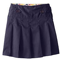 Eddie Bauer Girls' Twill Pleated Scooter