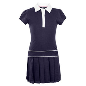 Eddie Bauer Girls' Pleated Polo Dress With Pleated Bottom Skirt