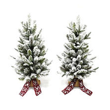"Member's Mark 28"" Tabletop Flocked Trees, Set of 2"