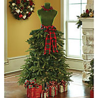 Member's Mark Premium 5' Dress Form Tree-Red & Green