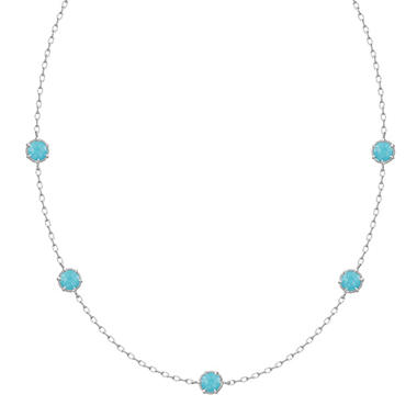 Judith Ripka Eclipse 5-Stone Turquoise Necklace