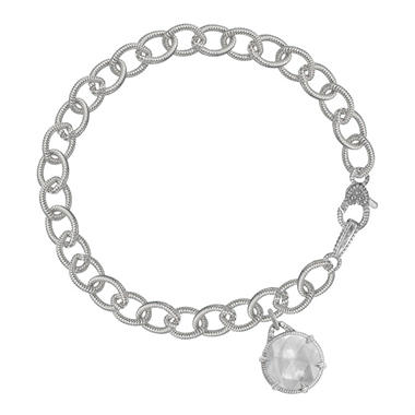 Judith Ripka Eclipse Drop Mother-of-Pearl Doublet Bracelet