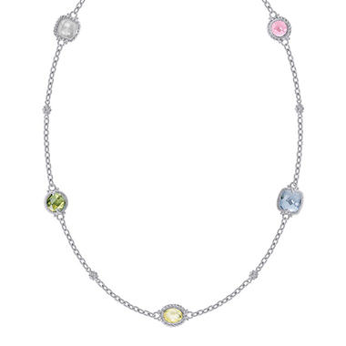 Judith Ripka Multi Stone Necklace - 17""