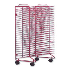 "Sax Stack-a- Rack Mobile Drying Rack, 30"" x 21"" x 17"", Metal, Red"