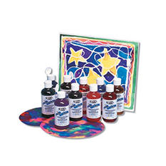 Sax True Color Concentrated Liquid Watercolor Paint Set, 8 Ounce Bottle, Assorted Vibrant Colors, Set of 10