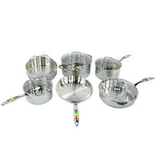 Masquerade Stainless Steel 10-Piece Cookware Set