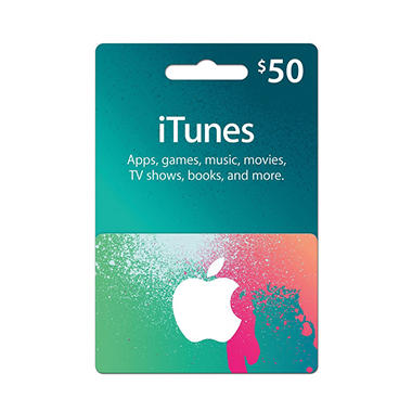 *$42.88 after $5 Instant Savings* Apple iTunes $50 Gift Card
