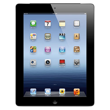 iPad with Retina display 32GB Black w/ Wi-Fi and Cellular – Verizon, AT&T, and Sprint