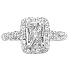 1.00 ct. t.w. Cushella® Diamond Ring in 14k White Gold (H-I, I1)