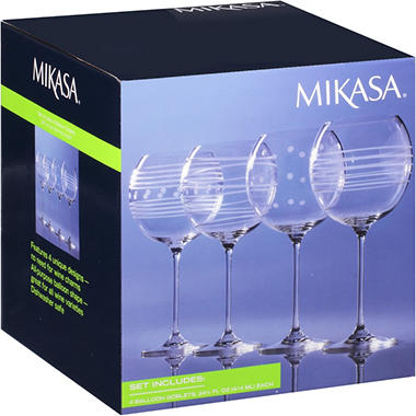 Mikasa� Wine Glasses - Set of 4
