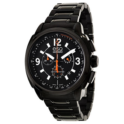 ESQ by Movado Excel Watch for Men With Chronograph and Black Ion Plated Bracelet