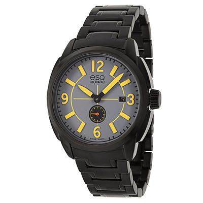 ESQ by Movado Excel Watch for Men with Black Ion Plated Bracelet