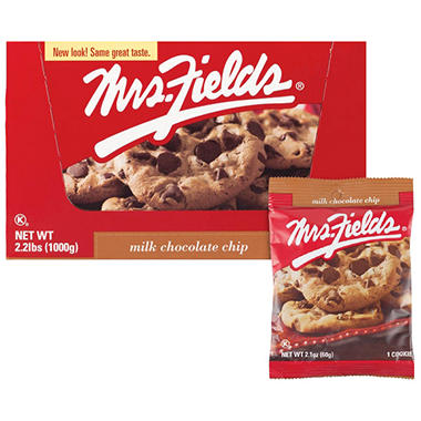Mrs. Fields Milk Chocolate Chip Resale Pack - 20ct