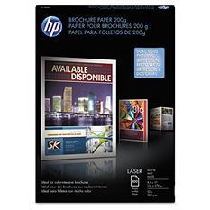 HP Laser Matte Brochure Paper, 52 lb., 8-1/2 x 11, White  (100 Sheets)