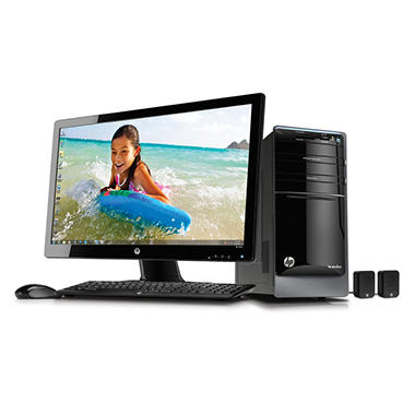 "HP Pavilion p7 Desktop AMD QC A10-5700, 2TB, 27"" Display"