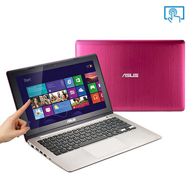 "ASUS X202-DH31T-PK 11.6"" Pink Touch Laptop Computer, Intel Core i3-3217U, 4GB Memory, 500GB Hard Drive"