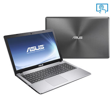 "ASUS K552EA-DH41T 15.6"" Touchscreen Laptop Computer, AMD A4-5000, 6GB Memory, 750GB Hard Drive"