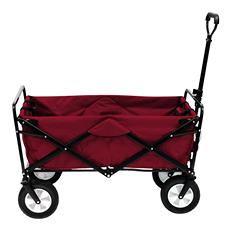 Crimson Red Folding Wagon
