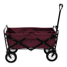 Maroon Folding Wagon