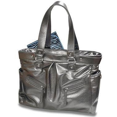 Baby Essentials, Metallic Diaper Bag - Silver