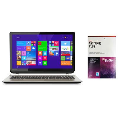"Toshiba Satellite S55T-B5260 15.6"" Laptop Computer Intel Core i7-4710HQ, 12GB Memory, 1TB Hard Drive, with McAfee Anti-Virus Plus"