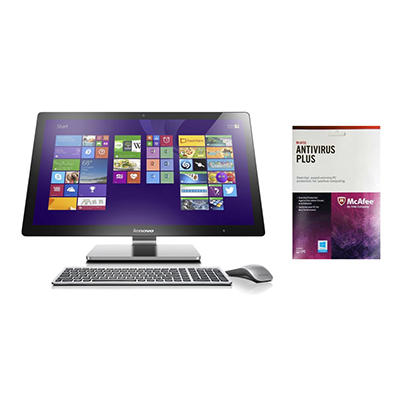 "Lenovo A740 27"" All-in-One Desktop Computer with McAfee Antivirus, Intel Core i7-4558U , 8GB Memory, 1TB Hard Drive"