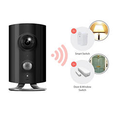 Piper classic All-in-One Security and Home Automation System with Video Monitoring Bundle- Includes Wireless Camera, 2 Door Sensors and 3 Smart Switches