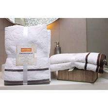 LUXE Scroll Jacquard Bath Towel (2 Pack) - Various Colors
