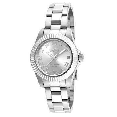 Invicta Ladies Pro Diver Watch With Silver Face