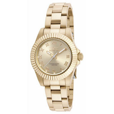 Invicta Ladies Pro Diver Watch in Gold Tone