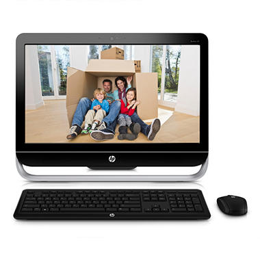 HP Pavilion 23-b017c All-in-One Desktop Computer, AMD A4-5300, 6GB Memory, 500GB Hard Drive, 23""