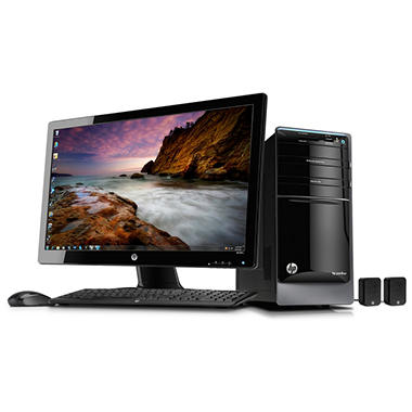 HP Pavilion p7-1517cb Desktop, AMD Quad-Core A10-5700, 12GB Memory, 2TB Hard Drive, 27