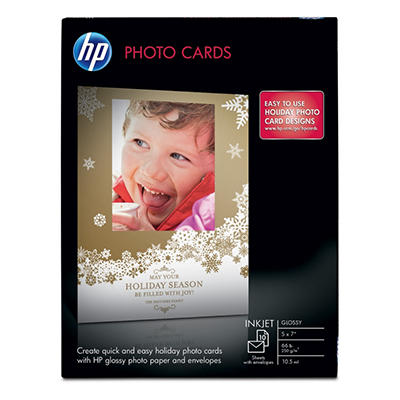 "HP Glossy 5"" x 7"" Photo Cards with Envelopes"