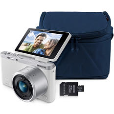 Samsung NX MINI 20.5MP Smart Wi-Fi Camera Bundle with 16GB microSD Card and Premium Camera Case