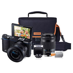 Samsung NX3300 Interchangable Lens Camera Bundle with 20-50mm Lens, 50-200mm Lens, Camera Bag, and 16GB microSD Card