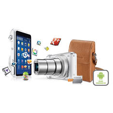 Samsung GC200 16.3MP Android Galaxy Camera Bundle with 21x Optical Zoom, Camera Case, and 16GB microSD card