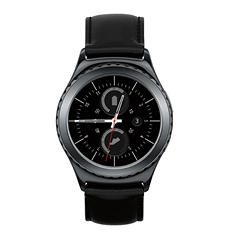 Samsung Gear S2 Classic with Leather Band - Black Steel