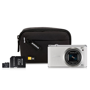 Samsung WB350 Smart Wi-Fi Camera Bundle w/ 16GB MicroSD Card & Camera Case
