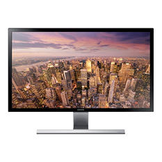 "Samsung UHD 28"",4K Monitor with Metallic Easel Stand"