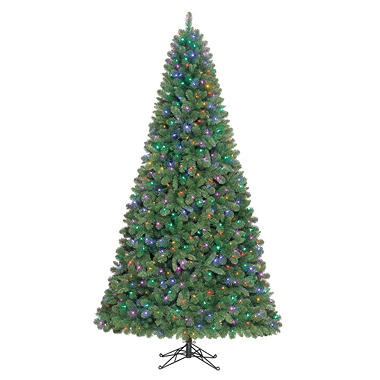 9' Shelton Color Changing Pre-lit Quick Set� Tree - From Color to Clear Lights in a Snap