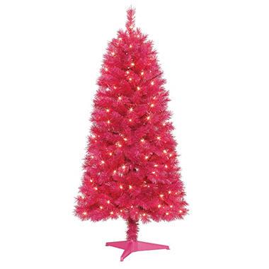 5' Pre-lit Magenta Tree