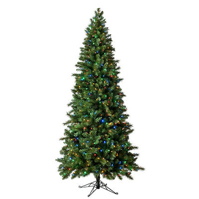 9' Virginia Pine Color Changing Pre-Lit Quick Set Tree