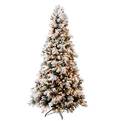 Hallmark 7.5' Sugared Spruce Pre-Lit Tree