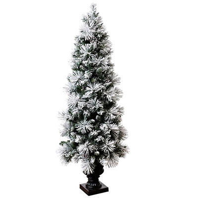 Hallmark 5.5' Sugared Spruce Pre-Lit Entryway Tree