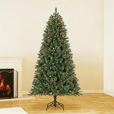 7.5 ft Hallmark Artificial Pre-Lit Grand Hampton Pine Chrsitmas Tree