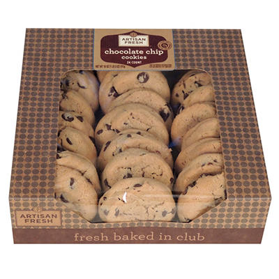 Artisan Fresh Mini Chocolate Chip Cookies - Case of 336 - 21 lbs.