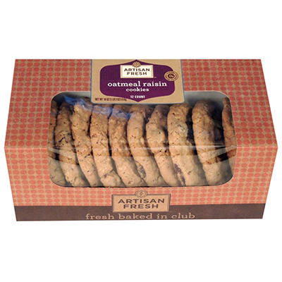 Artisan Fresh Oatmeal Raisin Cookies - Case 144 ct.