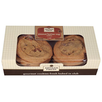 Artisan Fresh Gourmet Peanut Butter Cup Cookies - Case 72 ct.